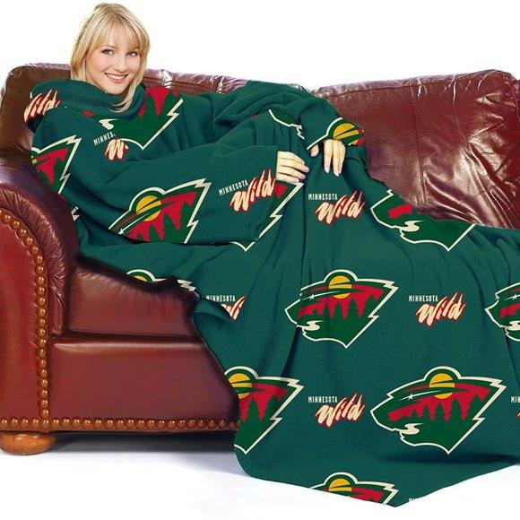 NHL Minnesota Wild Snuggie Throw Blanket
